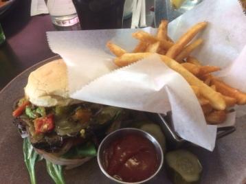 Portobello Sandwich with Fries