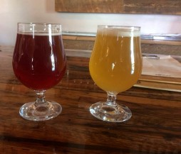 Two delicious beers at Rowley's Farmhouse Ale