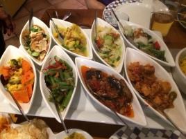 The vegetarian plate @ Tujuh Maret