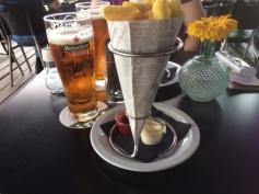 Pomme Frites & a bock beer