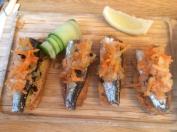 Crostini and sardines @ The Sea Food Bar