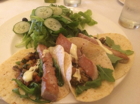 The Seared Rare Ahi Tuna Tacos