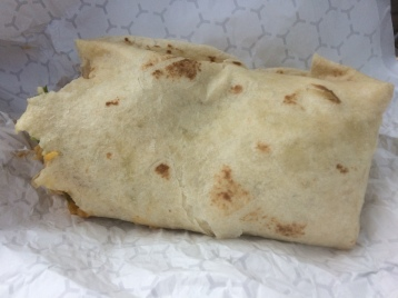 My partially eaten vegetarian burrito