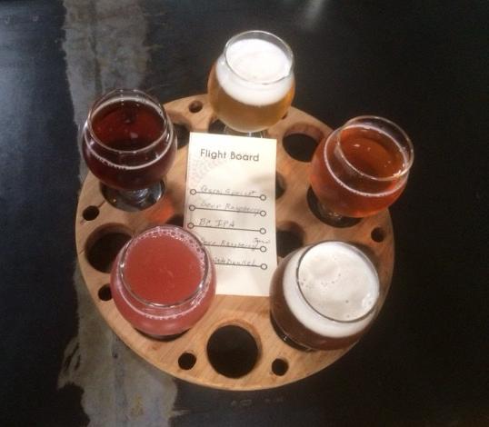 Our beer sampler@ Dialogue Brewing
