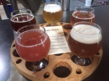 Another view of our sampler @ Dialogue Brewing