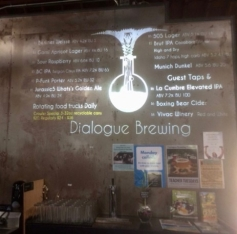 The beer listing @ Dialogue Brewing
