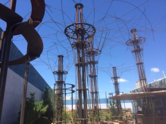 The sculpture garden @ Dialogue Brewing