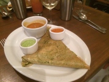 Spicy Basil Dosa @ Paper Diosa