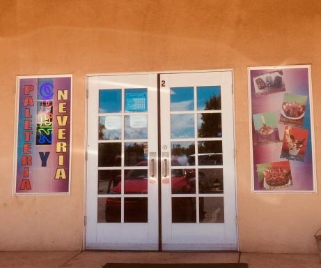 The Front door @ Paletaria Oasis