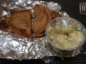 A Tempeh Ruben & Vegan Potato Salad