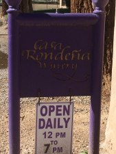 Casa Rondena Road Sign