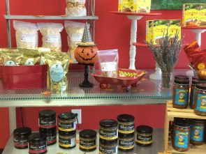 Showcase display at Celina's Biscochitos