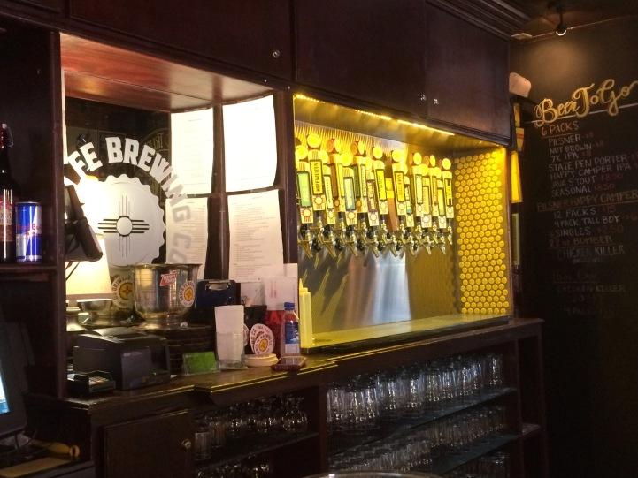 Inside at the Bar at the Brake Room