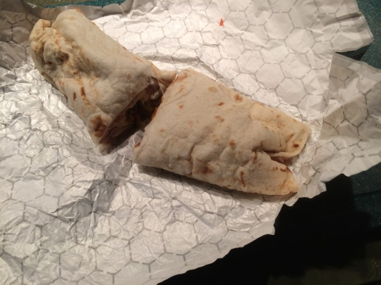 The Bean and Cheese Burrito at Alicia's