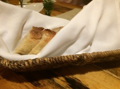 The fantastic house made bread at Farm & Tabke