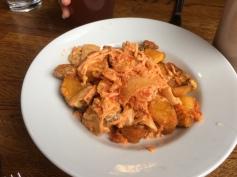 Kimchi Patatas Bravas at Dr. Field Goods Kitchen
