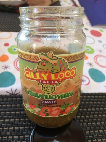 A well used jar of Gilly Loco Salsa