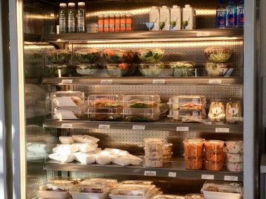 The refrigerator case at Mata G