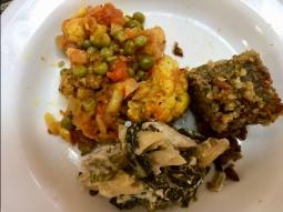 Kibbie, Pasta Salad, Cauliflower and Peas from Mata G