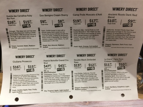 Descriptions of Total Wine and More Wines, Port, Sherrry, and Champaign