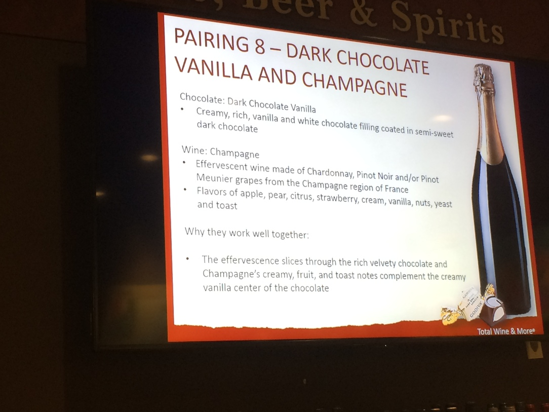 A Slide from the Wine and Chocolate Pairing