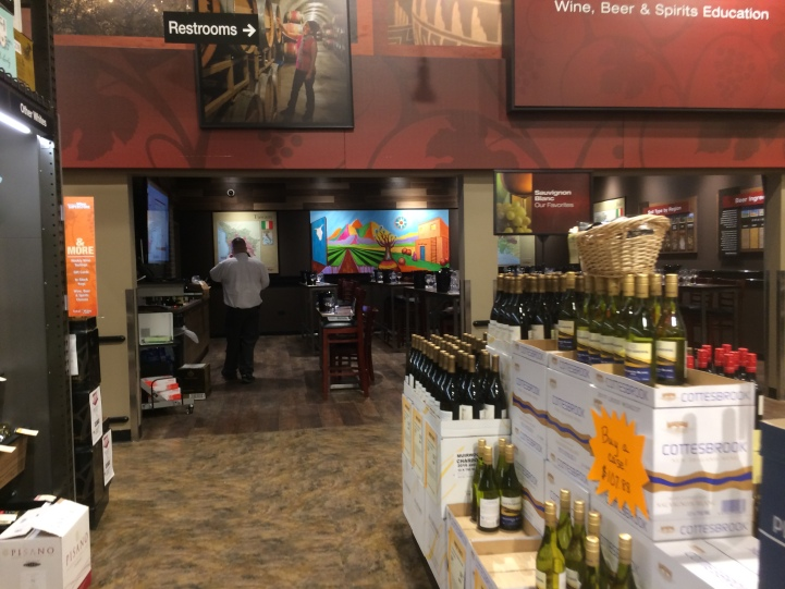 a view of the event space at Total Wine & More