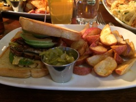 The Portabello Sandwich with Red Potato Wedges