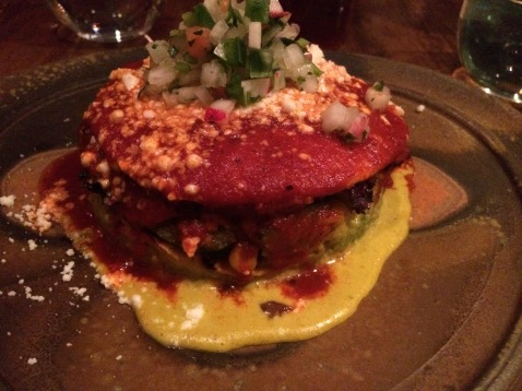 Another view of the Vegetarian Enchilada