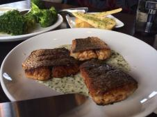A family style Blackened Redfish at Arroyo Vino