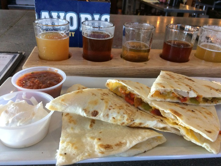 RioBravo quesadilla and Beer Tasting